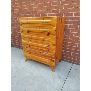 1950s Franklin Shockey Sculpted Pine Chest Of Drawers Preview