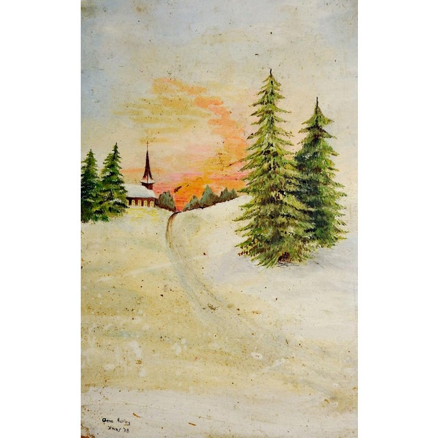 Gallery Wall Group of Rustic Landscape Paintings - Set of 3 For Sale - Image 4 of 5