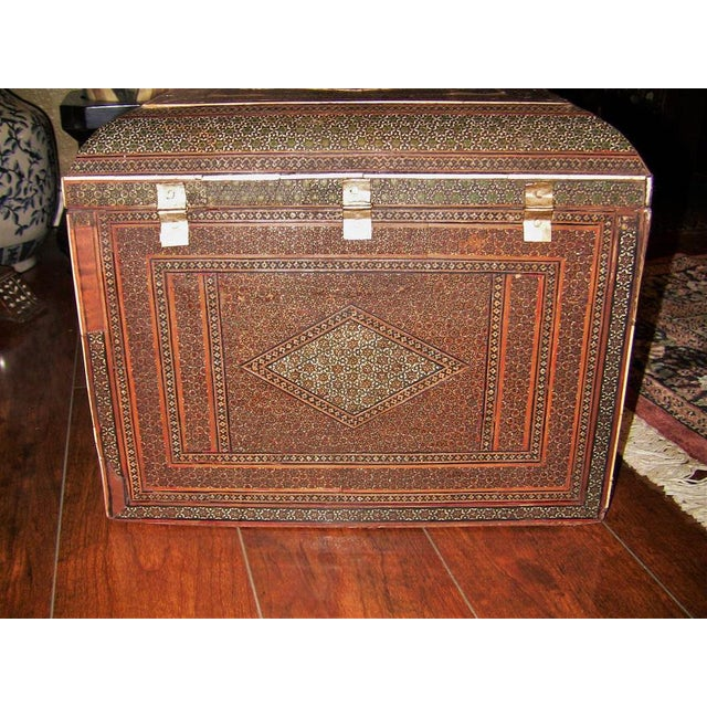 18c Indo Portugese or Persian Vargueno Mini Cabinet For Sale - Image 11 of 13