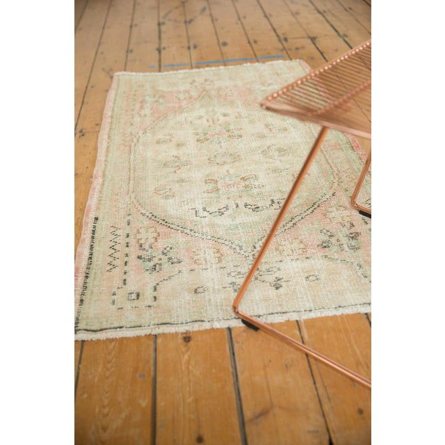 """Shabby Chic Vintage Distressed Oushak Rug Runner - 2'8"""" X 4'9"""" For Sale - Image 3 of 9"""