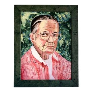 Vintage Portrait of Elrose Adolf Fletcher Painted by Susan Heyneman For Sale