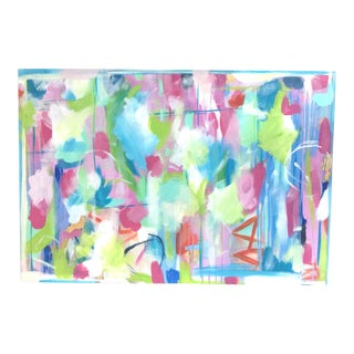 """Spring Fling"" Acrylic Abstract Painting For Sale"