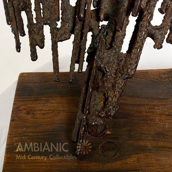 Bronze 1977 Stanyo Kaminsky Brutalist Sculpture For Sale - Image 7 of 8