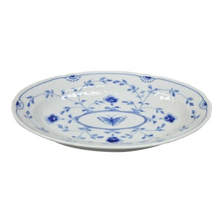 Bing and Grondahl B&G Kjøbenhavn Butterfly Lace Blue Oval Serving Platter For Sale