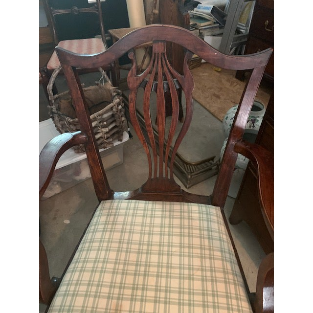 Cinnamon American Chippendale Faux-Grained Armchair For Sale - Image 8 of 9