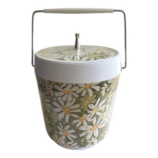 Vintage Mid-Century West Bend Daisy Ice Bucket For Sale