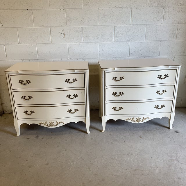 French Provincial Nightstand Chests - a Pair For Sale - Image 13 of 13