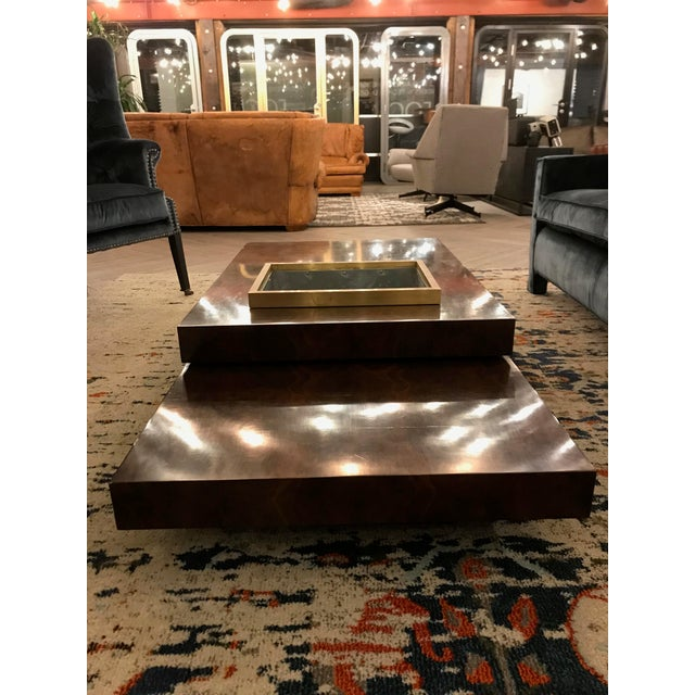 Three Tiered Burlwood Coffee Table For Sale In San Francisco - Image 6 of 8