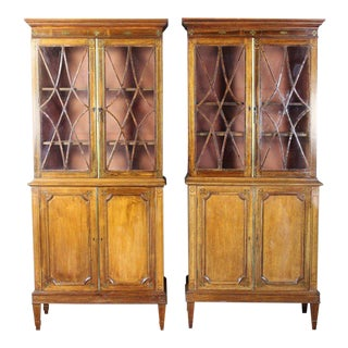 19th Century Rosewood Bookcase Cabinets - a Pair For Sale