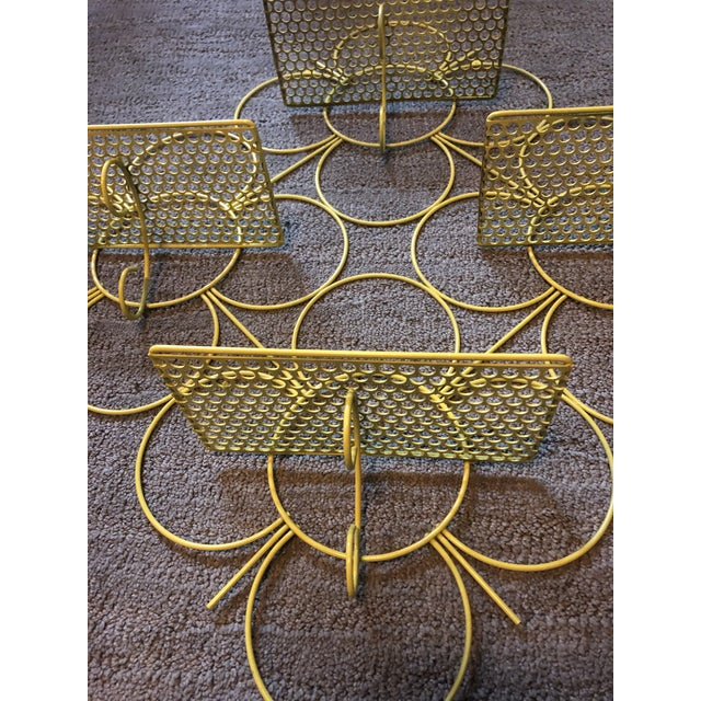 Boho Chic Mid Century Modern Mesh Wall Shelf For Sale - Image 3 of 6