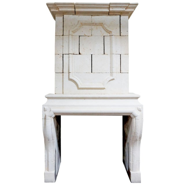 Louis XIII Limestone Mantel with Trumeau For Sale In Dallas - Image 6 of 6