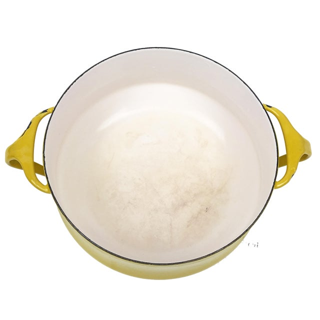 Vintage Modern Kobenstyle Dansk Yellow Enamel Pot - Image 2 of 5