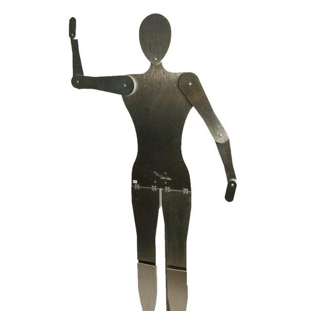 Custom-Made Brushed Aluminum Adjustable Mannequin - Image 2 of 4