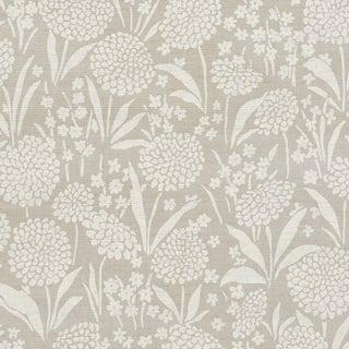 Sample - Schumacher Chrysanthemum Shimmer Wallpaper in Moonstone For Sale