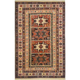 Mansour Exceptional Handmade Russian Shirvan Design Rug For Sale