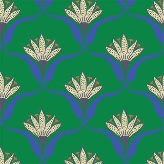 Jade Wallflower Wallpaper Remnant by Mitchell Black
