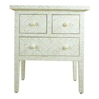 Shabby Chic Serena & Lilly White Bone Inlaid Cabinet