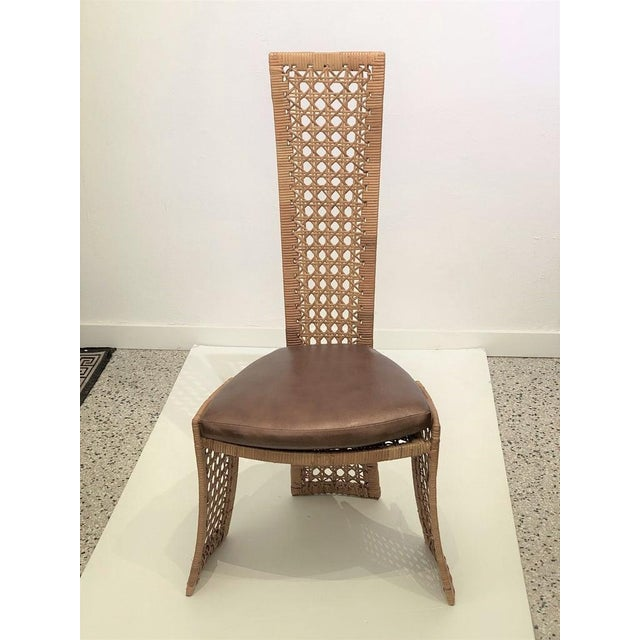 Mid-Century Modern Danny Ho Fong Dining Chairs Rattan Caning - Set of 6 For Sale - Image 9 of 13