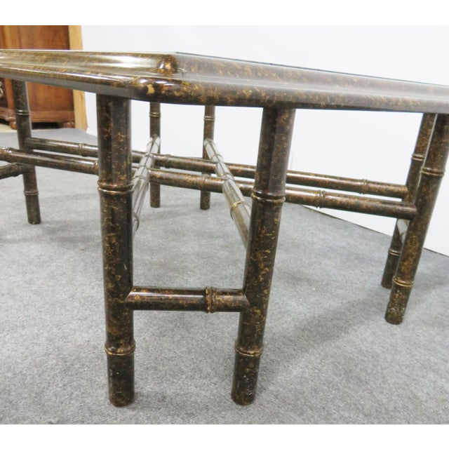 John Widdicomb Faux Bamboo Coffee Table For Sale In Philadelphia - Image 6 of 7