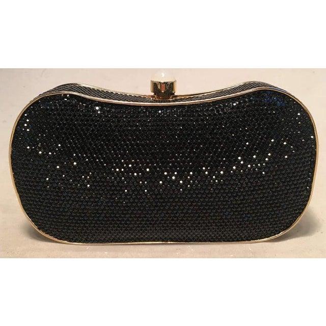 Black Judith Leiber Black Swarovski Crystal Minaudiere Evening Bag Clutch For Sale - Image 8 of 9