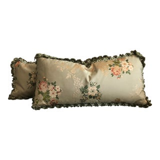 Vintage French Brocade Pillows - Set of 2 For Sale