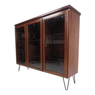 Mid-Century Danish Hutch or Display Cabinet For Sale