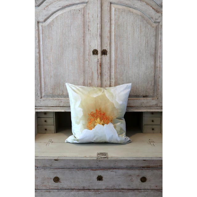 White Tree Peony Bloom in Rodin Museum Garden Paris Photo Pillow For Sale - Image 9 of 13