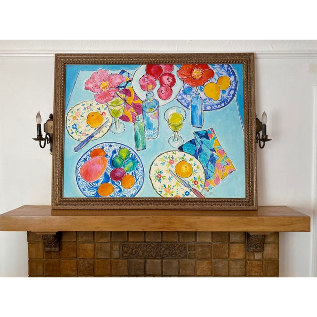 After Dinner L.A. II Framed Fine Art Giclée print on canvas enhances the brilliant color of this Still Life. The colors...