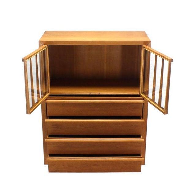 Brown Large Robsjohn-Gibbings Dresser Secretary w Bookcase For Sale - Image 8 of 9