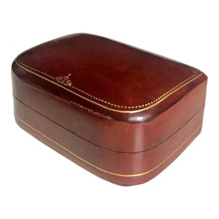 Italian Leather Jewelry Box For Sale