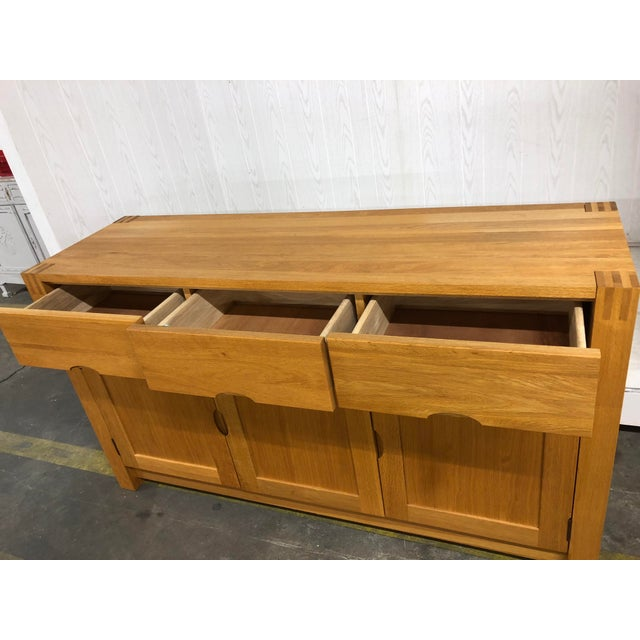 1900s Danish Modern Oak Dresser For Sale - Image 9 of 10