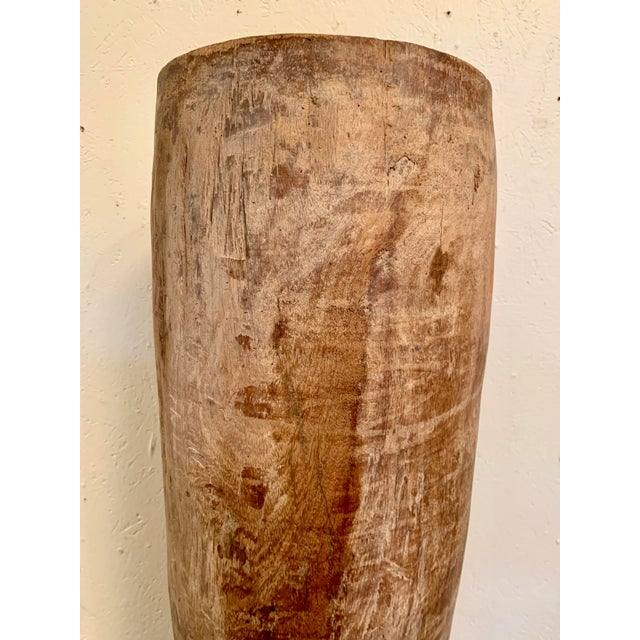 Mid 19th Century Antique Hand Carved Teak Drum From Thailand For Sale - Image 5 of 12