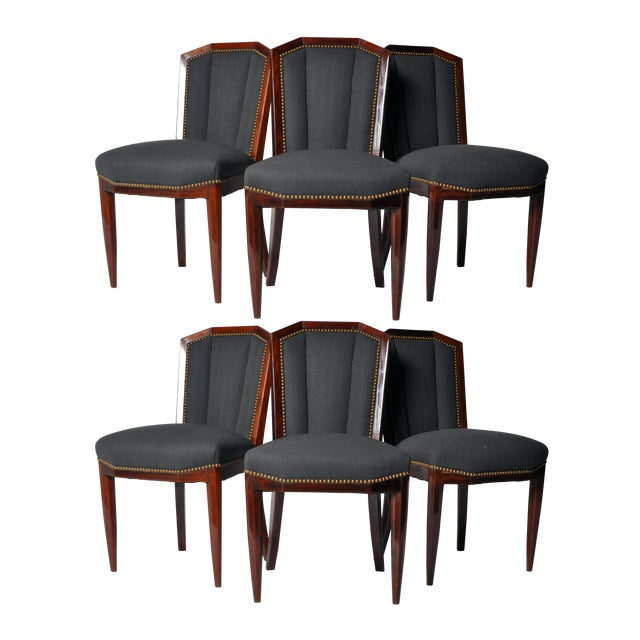 1940s Art Deco Dining Chairs - Set of 6 For Sale - Image 10 of 10