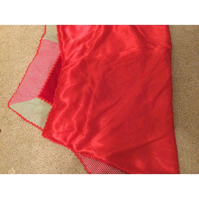 Vintage Red Velvet Tree Skirt For Sale - Image 9 of 11