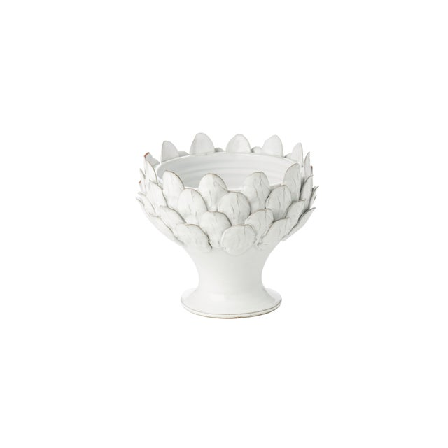 White Artichoke Footed Centerpiece For Sale - Image 4 of 4