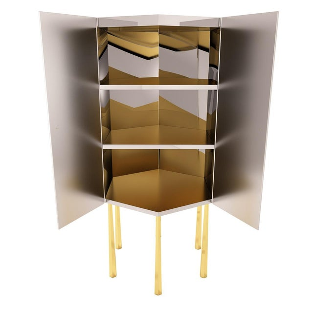 Hex Cabinet by Artist Troy Smith - Contemporary Modern Design - Handmade Furniture - Very Limited Edition For Sale - Image 9 of 11