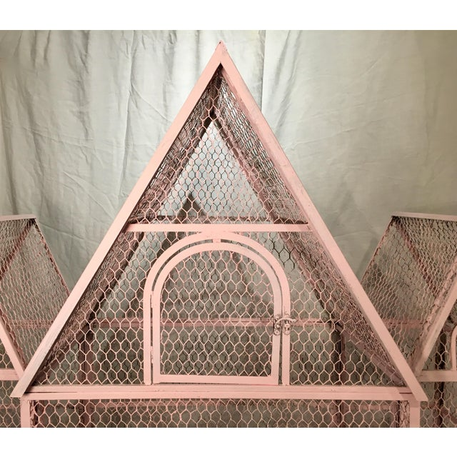 1940s Pink Chateauesque Birdcage For Sale - Image 5 of 11