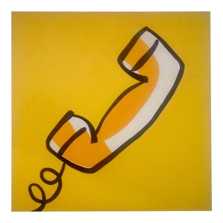 Final Markdown - Pop Art Phone Acrylic Painting For Sale