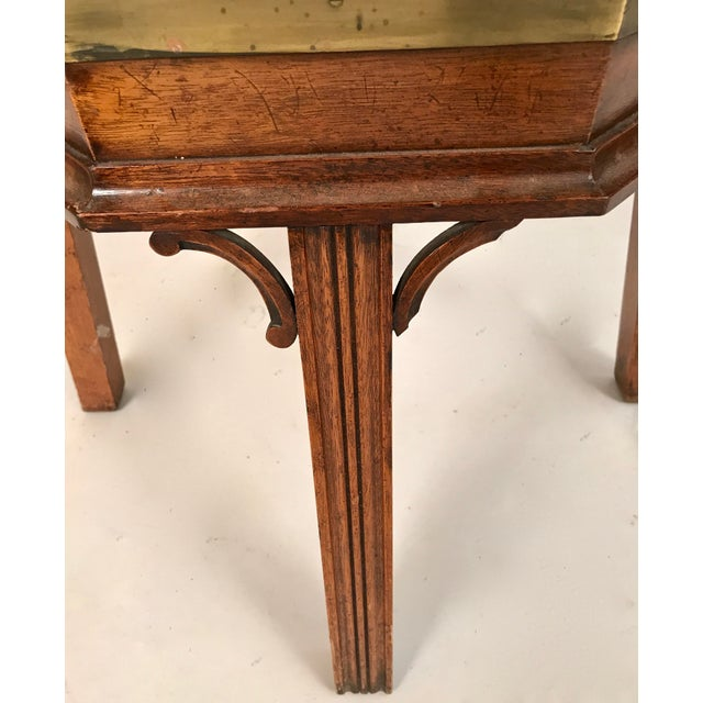 Gold 1700s George III Mahogany and Brass Cellarette For Sale - Image 8 of 11