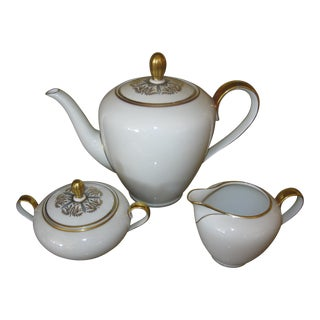 Hutschenreuther Gelb Luxury Teaset Bavaria Germany 5 Pieces (Including Lids) For Sale