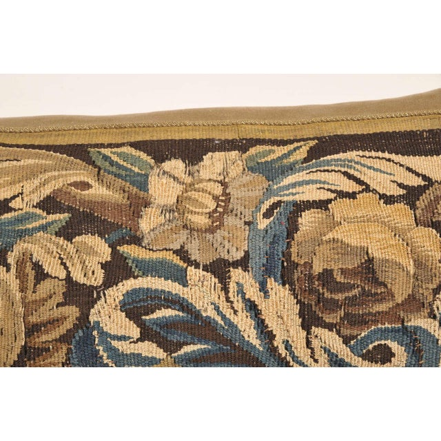 French 19th Century Tapestry Pillow For Sale - Image 3 of 7