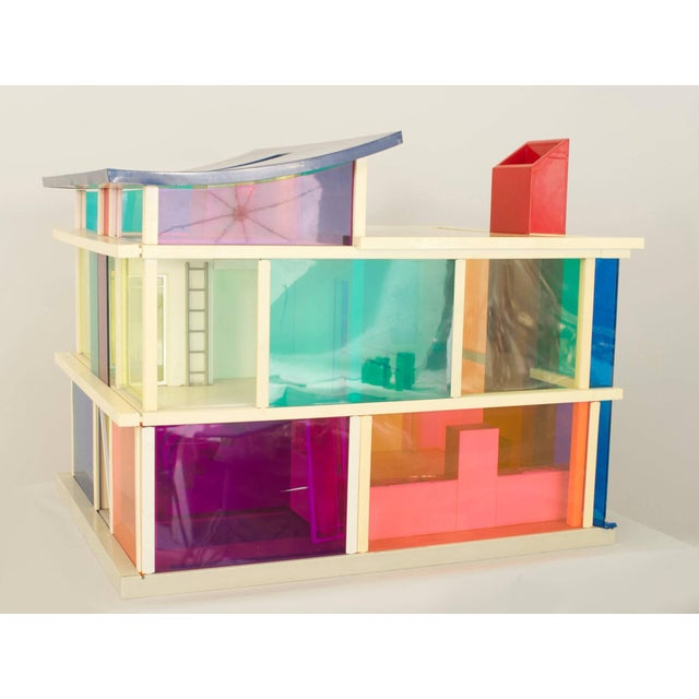 Mid-Century Modern American Midcentury Plastic Multicolored Scale Architectural Model of a Home For Sale - Image 3 of 3
