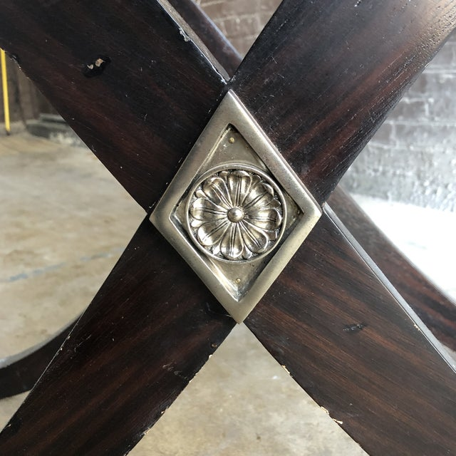 1980s 20th Century Art Deco Maitland-Smith Bar Table/Console For Sale - Image 5 of 11