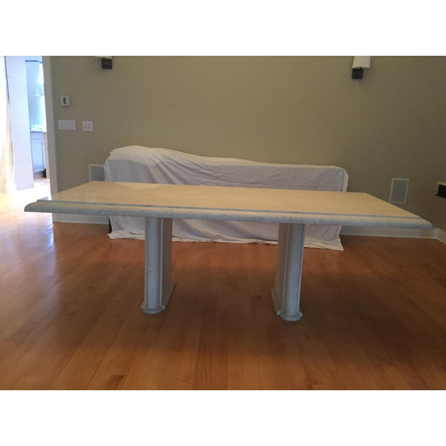 Solid Travertine Dining Table - Perfect and Incredible - Image 2 of 11