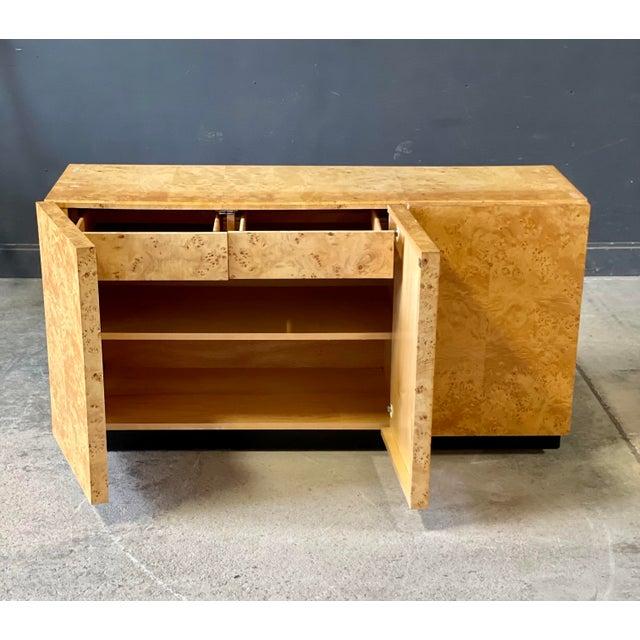 Wood Vintage Milo Baughman Burl Wood Credenza For Sale - Image 7 of 13