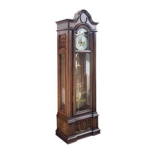 Vintage Piper Cherry Veneer Grandfather Clock For Sale