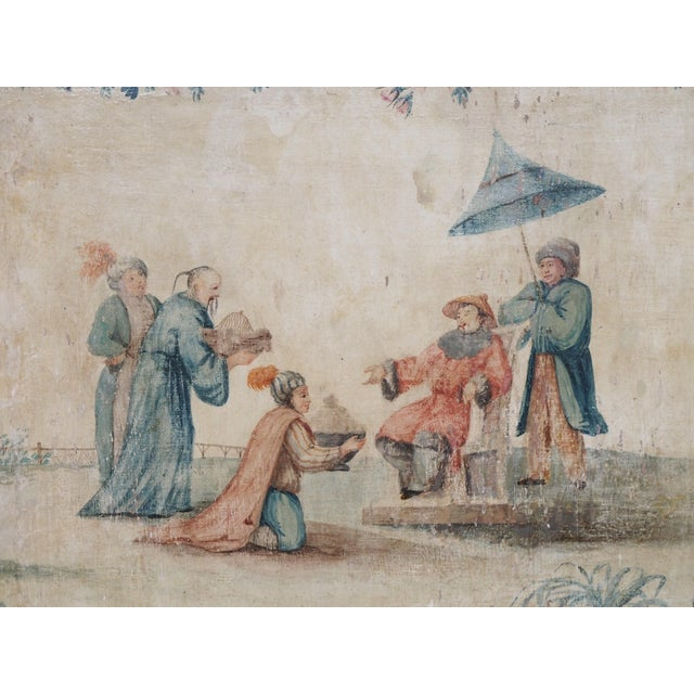 Asian 18th Century Italian Chinoiserie Architectural Panel For Sale - Image 3 of 8