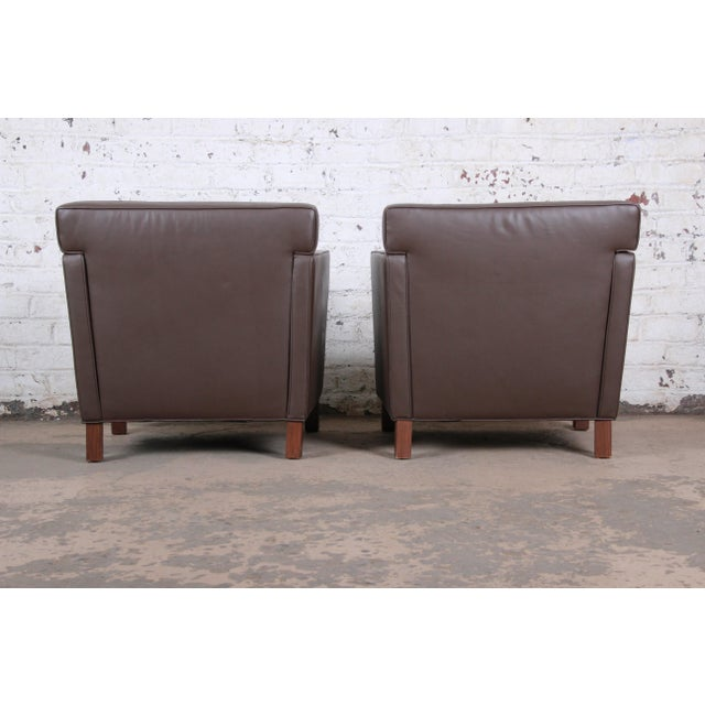 Ludwig Mies Van Der Rohe for Knoll Studio Krefeld Leather Club Chairs, Pair For Sale In South Bend - Image 6 of 9