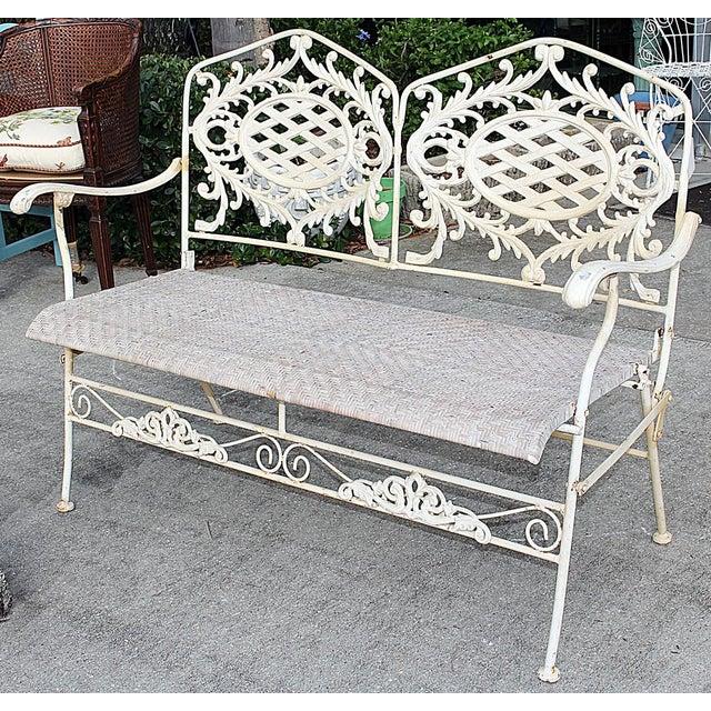 Folding Cast Iron Bench - Image 4 of 6