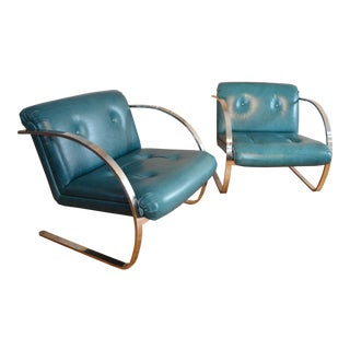 Charles Gilbilterra for Brueton Arc Chairs - A Pair